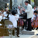 "ANNA NORRIS/CHRONICLE Carl Topilow, conductor of The Cleveland Pops Orchestra, leads the ensemble in music from ""Batman: The Dark Knight Rises"" during The Cleveland Pops Orchestra ""Summon th …"