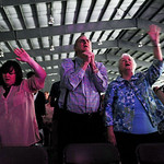 About 2,500 people traveled from all over the United States to attend Open Door's Easter ceremony, which was held at All Pro Athletic Center. KRISTIN BAUER/CHRONICLE
