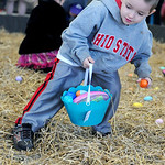 Aaron Walker, 5, of Elyria, hurries to collect Easter eggs. KRISTIN BAUER/CHRONICLE