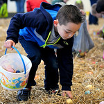 Jeremy Hale, 6, of Elyria quickly picks up Easter eggs. KRISTIN BAUER/CHRONICLE