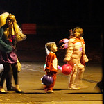 Group of trick or treaders crossing at the corner of Prospect and Cambridge in Elyria. Photo by Tom Mahl