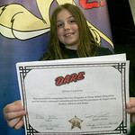 "Jillian Grzywna, 11, a fifth-grader at Columbia Middle School, won the essay contest and is a DARE graduate in a course taught by ""Deputy G"" as he is known to the kids, or Lorain County sher …"