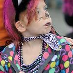McKinley Elementary second-grader Katelyn Mencke walks in the school's annual parade. STEVE MANHEIM/CHRONICLE