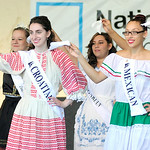 The International Princesses perform a dance number during the Lorain International Opening Ceremony on Friday. KRISTIN BAUER | CHRONICLE