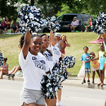 The Lorain High School Titan cheerleaders march in the parade. ANNA NORRIS/CHRONICLE