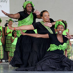 The African Royalty Drill Team performs at the Lorain International Festival on Saturday. KRISTIN BAUER | CHRONICLE