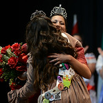 Colleen Ziegman hugs former queen Lexi Zvosecz after winning the crown in the 48th Annual Princess Pageant. KRISTIN BAUER | CHRONICLE