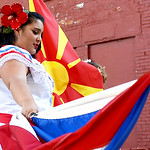 Renee Mercedes Parrilla represents her Puerto Rican heritage during the Princess Pageant.