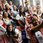 "The International Princesses took a ""selfie"" before their grand enterance in the Princess Pageant on Thursday. KRISTIN BAUER 