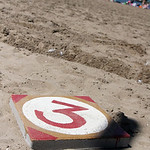 A large sundial keeps time Sunday on Lakeview Beach. ANNA NORRIS/CHRONICLE