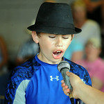 John Hostal, 14, of Penfield Twp. wins the turkey calling competition at Lorain County Fair Aug. 22.  Steve Manheim