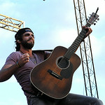 Thomas Rhett performs at the grandstand on Monday. STEVE MANHEIM/CHRONICLE