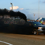 Ryan Lorentz, of New London, drives his truck Nightmare during the Smokeout Race. KRISTIN BAUER | CHRONICLE