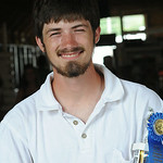 Ben Klier of Wellington won the rooster calling at Lorain County Fair Aug. 22.  Steve Manheim