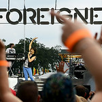 Fans cheered for Foreigner lead singer Kelly Hansen as he took the stage on Tuesday evening. KRISTIN BAUER/CHRONICLE