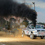 Chris Webb drives his truck, Live Load, during the Smokeout Race on Aug. 20. KRISTIN BAUER | CHRONICLE