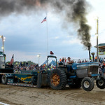 Tractors demonstrated their ability to tow the Mighty Mac the length of the track during the Smokeout on Aug. 20. KRISTIN BAUER | CHRONICLE