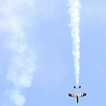 Gary Szetlak's Boomerang XL radio controlled jet puts on an aerial show for the spectators. ANNA NORRIS/CHRONICLE