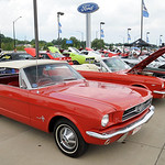 Mustangs on display at the Nick Abraham Elyria Ford 6th Annual Mustang and Ford Show, co-hosted by North Coast Mustang Club of Ohio (NCMCO), at Elyria Ford on E. Broad St. on July 15.  Steve …