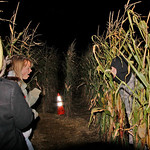 10/17/09 Novotny Farm Market Rt 60 Vermilion, Ohio Holowen Corn Maze. Boo!! by Tom  Mahl