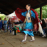 Amherst Vermilion com /   Indian grass dancers performs at the Native American Pow-Wow celebration at Vermilion River Reservation Sep. 26.    Steve Manheim