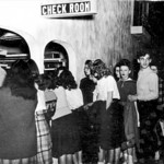 In this undated photo, people line up to check their coats before skating at the Roll Arena.