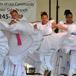 Puerto Rican dancers with Boricua Escencia Cultural de Lorain perform Saturday at Lorain International Festival. They are, from left, Jocelyn Marroquin, Sianna Ramos, Imani Rojas and Keshla  …