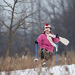 Madeline Fairweather (age 9) goes for a snow shoe hike at Sandy Ridge Reservation – Johnson Wetland Center in North Ridgeville. photo by Ray Riedel