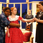 "Arenne Flanders, left, Emily Ester, Jeanette Hagerty, and Nikki Ickes rehearse the Elyria High Drama Dept. production of ""The Bad Seed"" by Maxwell Anderson on Nov. 8.  The show runs Nov. 11- …"