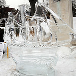 An ice sculpture sponsored by EMH Regional Healthcare System at Ice A Fair in Vermilion Feb. 5.  Steve Manheim