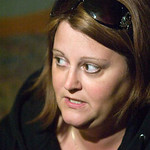 Lisa Pfund, mother of Amber Bahr, a Random Lake woman hurt in the Fort Hood attack, speaks to members of the media in her Random Lake home on Thursday, Nov. 5, 2009. (AP photo/The Sheboygan  …