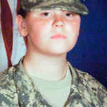 Amber Bahr's military photo provided courtesy of the family.  Bahr, a native of Random Lake, Wisc., was injured in the shootings at Fort Hood Thursday Nov. 5, 2009. Bahr, 19, was shot in the …