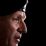 U.S. Army Lt. Gen. Bob Cone speaks during a news conference outside Fort Hood, Texas, Thursday, Nov. 5, 2009. Cone announced that the shooting suspect is custody and not dead but in stable c …