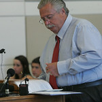 29JUN12  Gerald Wetherbee sentencing.  Tom Tomasheski, a retired police officer, gave an impassioned, lengthy witness impact statement.     Photo  by Chuck Humel