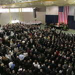 Officer Jim Kerstetter's funeral was held in the Lorain County Community College field house.