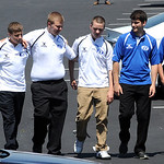 Brunswick students arrive for the Kevin Fox funeral at Cornerstone Chapel in Medina on June9.  Steve Manheim