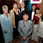 The 2012 Living Angel, center, is Marge Daidone of Amherst. Behind her, past Living Angels, from left: Patty Betka (1995);Madeline Zaworski (1997); Mary Kay Rowell (1999); Kaaren O'Connor (2 …