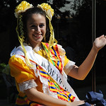 Lorain International Mexican princess Breonna Stanley in the Cinco de Mayo parade in Lorain May 5.   Steve Manheim