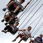Kids ride the YoYo at the Lorain County Fair Aug. 24.  Steve Manheim