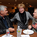 Judge Debbie Boros talks with George and Mary Kushner of Elyria at an election party held at FOP Lodge in Eaton Twp. Nov. 2.   Steve Manheim