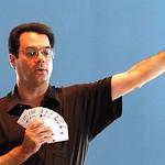 Magician Brad Schreiber teaches a class in magic in Avon. Photo by Tom Mahl