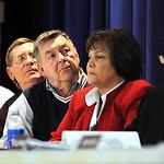 Midview school board members, David Kleinhenz, left,  Jim Barnhart, Gary Wilson,  Kathy Quintiliano and Dave Zunis at Midview School board meeting on Dec. 19.  Steve Manheim