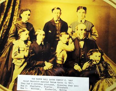 Hanhum Ball Gates Family, Monteith Hall, circa 1865