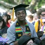 Daveed Audel of Bronx, N.Y., poses for a family member. He majored in African-American Studies. photo  by Chuck Humel