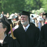 "James Burrows, center, BA '62, critically aclaimed creator, producer and director of episodes of ""Will & Grace,"" ""Friends,"" ""Taxi,"" ""Rhoda"" and more was a candidate for the honorary degree o …"