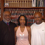 This June 2004 photo provided by the Pulaski County Circuit Court shows Maurice Clemmons, right, Nicole Smith, center and Judge Marion Humphrey after the couple was married. Clemmons is susp …