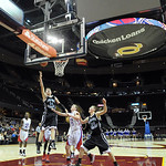 Open Door's Danny Stintsman takes the ball to the hoop at Quicken Loans Arena on Jan. 2.  Steve Manheim
