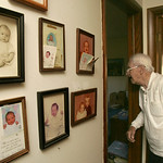 10NOV10 William Petroff admits he often speaks out loud to Jeanne when he walks around his North Ridgeville home.  William Petroff, a widower who sits by his wife Jeanne's grave every day, t …