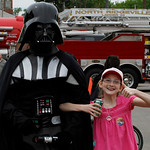 A friend indeed. Susan Hulec of North Ridgeville has found a friend in Darth. Photo by Tom Mahl
