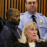 Anthony Sowell, right, stands behind public defender Kathleen DeMetz during his court appearance Wednesday, Nov. 4, 2009, in Cleveland. Sowell, 50, has been charged with five counts of aggra …